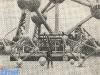 Les deux Atomium miniatures, protagonistes du fil rouge (Bruxelles 1979).