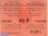 """Le ticket d'entrée pour les répétitions des """"Jeux sans frontières"""" de Bruxelles 1979."""