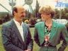 Pierre Meyer, producteur de la RTBF, et Sylvie Rigot