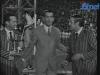 """Camillo Felgen présente """"Jeux sans frontières"""" 1967 à Kohlscheid, entouré de Guido Pancaldi et Gennaro Olivieri"""