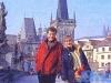 Georges Beller et Daniela Lumbroso à Prague (hiver 1992)