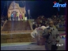 """Guy Lux lors des """"Jeux sans frontières"""" 1971 à Vichy."""