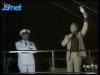"""Guy Lux lors des """"Jeux sans frontières"""" 1972 à Nice."""