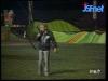 """Guy Lux lors des """"Jeux sans frontières"""" 1980 à Antibes."""