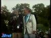 """Guy Lux et Guido Pancaldi lors des """"Jeux sans frontières"""" 1982 à Issy-les-Moulineaux."""