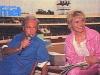 """Guy Lux et Simone Garnier pendant les répétitions d'""""Intervilles"""" en 1988."""