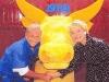 """Guy Lux et Simone Garnier présentent """"Intervilles"""" en 1988."""