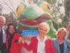 """L'équipe d'""""Intervilles"""" 1991 : Evelyne Leclercq et Denise Fabre remplacent Léon Zitrone."""