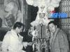 """En 1965, Guy Lux (RTF) et Jean-Claude Menessier (RTB) sont en Belgique à Binche pour """"Jeux sans frontières""""."""