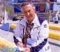 """L'arbitre Guido Pancaldi à """"Jeux sans frontières"""" 1988 aux Saisies (France)"""