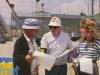 """Guido Pancaldi, Fabrice et Marie-Ange Nardi aux """"Jeux sans frontières"""" 1988 aux Saisies (France)"""