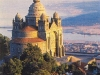 """La basilique de Santa Luzia, théâtre des """"Jeux sans frontières"""" 1988 à Viana do Castelo (Portugal)"""