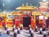Le plateau installé à Macao