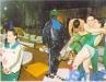 L'équipe portugaise de Vila Real à la fin d'un jeu (Jeux sans frontières 1994 à Batalha, Portugal)