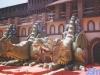 Le plateau de Jeux sans frontières 1995 installé à Milan (Italie)