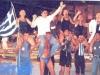 L'équipe grecque victorieuse à Milan (Italie)