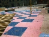 Le plateau de Jeux sans frontières 1995 installé à Milan (Italie) après les enregistrements