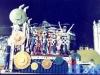 Parade d'une équipe grecque en début d'émission à Stupinigi (Italie)