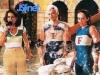 Christelle Ballestrero et deux candidats français (Jeux sans frontières 1998 à Trento, Italie)