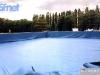 Installation de la grande piscine à Trento (Italie) pour Jeux sans frontières 1998