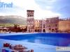 Remplissage de la grande piscine à Trento (Italie) pour Jeux sans frontières 1998