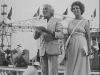"""Giulio Marchetti et Rosanna Vaudetti présentent """"Jeux sans frontières"""" 1977 à Marina di Carrara (Italie)"""