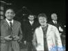 """Paule Herreman présente """"Jeux sans frontières"""" 1967 à Bruxelles (Belgique). Ici avec Gennaro Olivieri."""