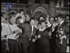 """Paule Herreman et Jean-Claude Menessier présentent  la finale des """"Jeux sans frontières"""" 1968 à Bruxelles (Belgique)"""
