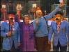 """Michel Lemaire et Paule Herreman présentent """"Jeux sans frontières"""" 1978 à Rochefort (Belgique). Ici avec Guido Pancaldi et Gennaro Olivieri."""