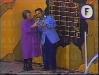 """Paule Herreman présente """"Jeux sans frontières"""" 1978 à Rochefort (Belgique). Ici avec Guido Pancaldi."""