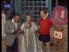 """Paule Herreman présente """"Jeux sans frontières"""" 1981 à Charleroi (Belgique). Ici avec Gennaro Olivieri."""