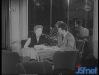 1958 : Paule Herreman interviewe l'acteur Gérard Philippe, de passage à Bruxelles.