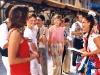 Les animateurs pendant l'enregistrement des Jeux sans frontières 1994 à Pécs (Hongrie)