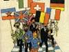 """Affiche des """"Jeux sans frontières"""" 1978 à Rochefort (Belgique)"""