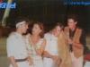 Caterina Ruggeri et Paolo Calissano interviewent des concurrents à Athènes (Jeux sans frontières 1993)