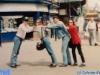 Ivan Frésard, Cathy Sommer, Paolo Calissano et Caterina Ruggeri en marge d'un tournage de Jeux sans frontières 1993