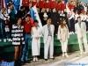Caterina Ruggeri, Paolo Calissano, Nia Chiswell, Iestyn Garlick, Eva Longyka et Mario Galunic sur le plateau de Jeux sans frontières 1994 à Batalha (Portugal)