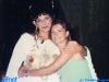 Dafne Bokota et Caterina Ruggeri sur le tournage de Jeux sans frontières 1994 à Poros (Grèce)
