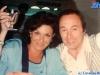 Ettore Andenna et Dafne Bokota en marge d'un tournage de Jeux sans frontières 1994 à Poros (Grèce)