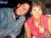 Iestyn Garlick et Nia Chiswell en marge du tournage de Jeux sans frontières 1994 à Poros (Grèce)