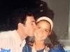 Paolo Calissano et Dorottya Geszler en marge du tournage de Jeux sans frontières 1994 à Poros (Grèce)