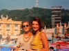 Caterina Ruggeri et sa soeur sur le plateau des Jeux sans frontières 1994 à Rome (Italie)