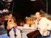 Ettore Andenna et son fils sur le tournage des Jeux sans frontières 1996 à Stupinigi (Italie)