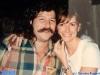 Babis Ioannidis (l'arbitre grec) et Caterina Ruggeri en marge d'un tournage de Jeux sans frontières 1997 à Budapest (Hongrie)