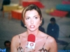Caterina Ruggeri sur le tournage de Jeux sans frontières 1997 à Budapest (Hongrie)