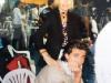 Olivier Minne et la productrice française sur le tournage de la finale de Jeux sans frontières 1997 à Lisbonne (Portugal)