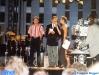 Pierre Pellegrini (l'arbitre suisse), Denis Pettiaux et Caterina Ruggeri sur le plateau de l'émission spéciale 'En attendant la finale' enregistrée à la Caserne 'Bedrina' d'Airolo (Suisse) en 1997