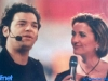 Mauro Serio et Caterina Ruggeri sur le tournage de Jeux sans frontières 1998 à Trento (Italie)