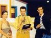 Anabela Mota Ribeiro, Eladio Climaco et Luis de Matos présentent Jeux sans frontières 1995 à Vilamoura (Portugal)