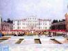 Le plateau de Jeux sans frontières installé devant la Villa Manin de Passariano (Italie) en 1993